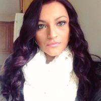 Reddish purple hair brings out hazel eyes | Hair styles ...