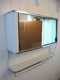 Vintage 50's Metal Mirror Bathroom Wall Medicine Cabinet