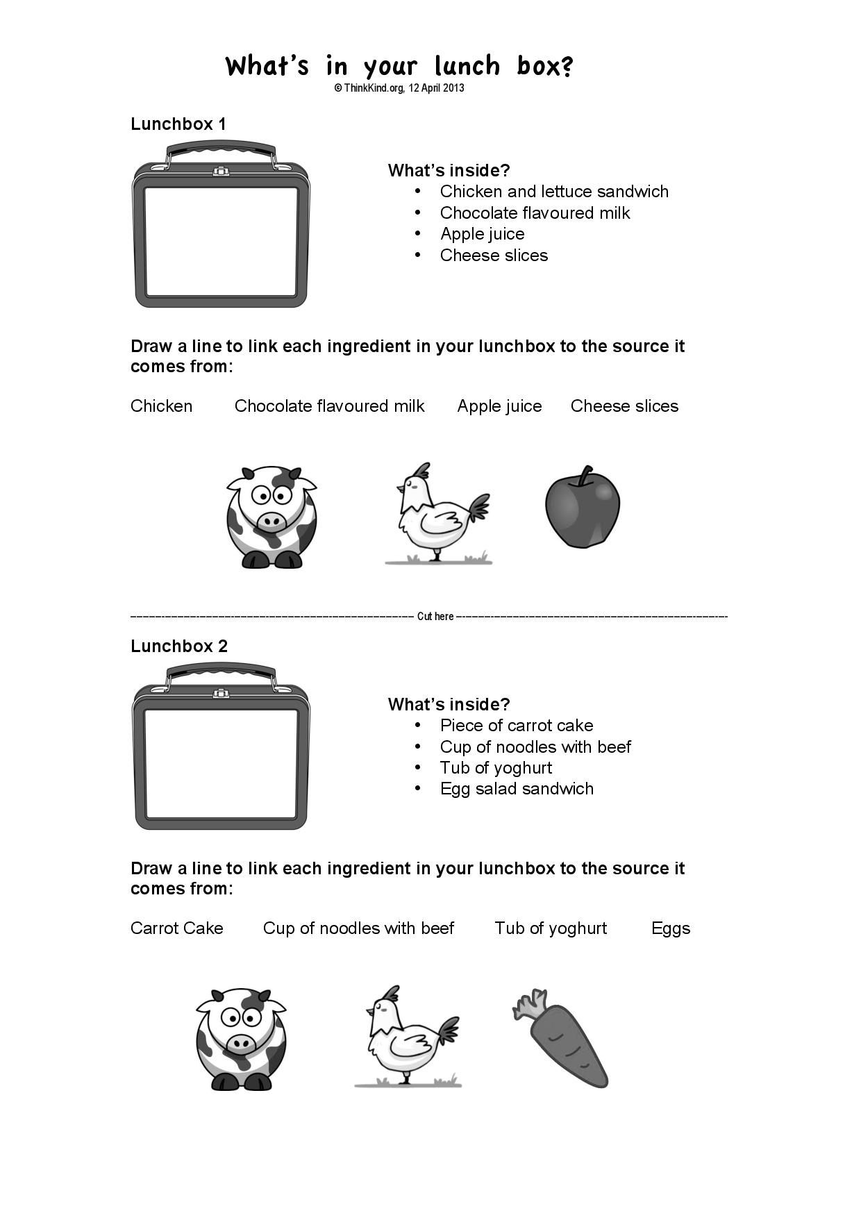 Recycle Match Up Worksheet