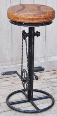 Industrial Bicycle Bar Stool | Industrial, Bicycle bar and ...
