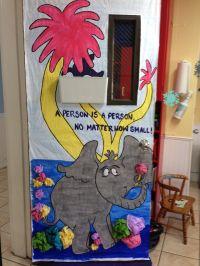 Horton Hears a Who classroom door for Dr. Seuss month ...