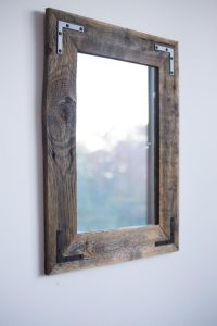 Reclaimed Wood Farmhouse Mirror handcrafted in Plano, # ...