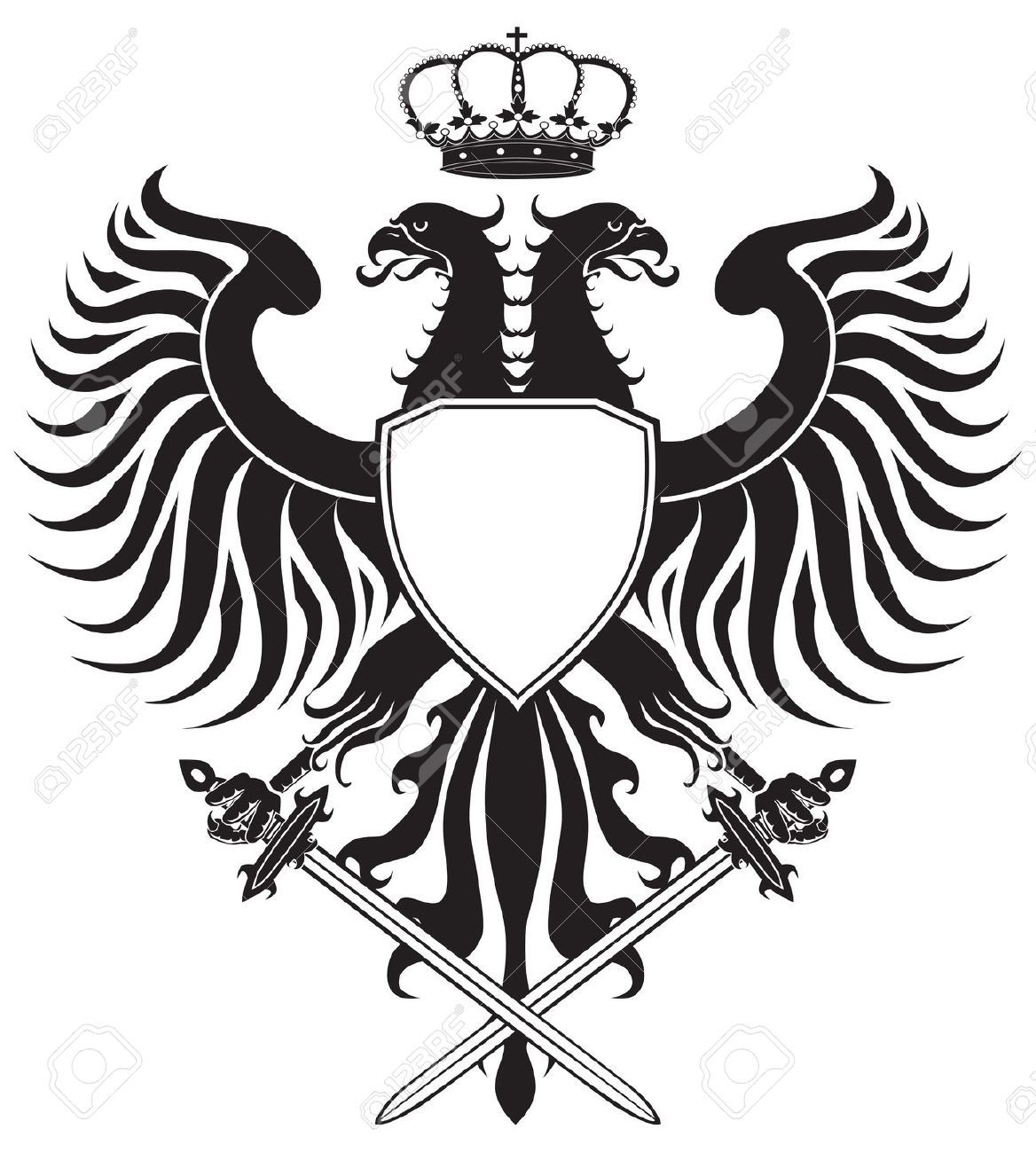 crests: Double-headed eagle with crown and swords