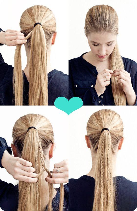 Pferdeschwanz Zopf Hair Tutorial Girly Girl Hair Pinterest