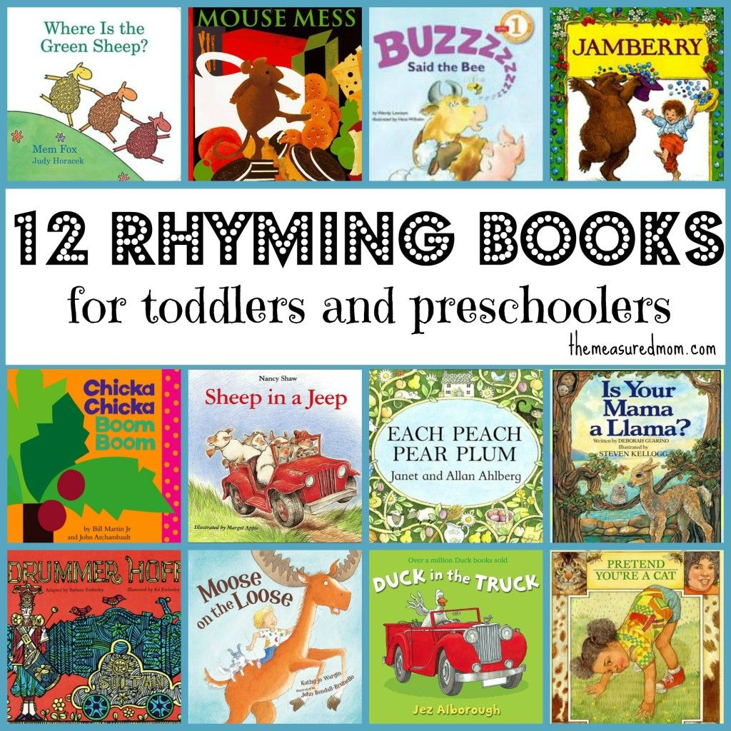 Rhyming Books For Toddlers Amp Preschoolers