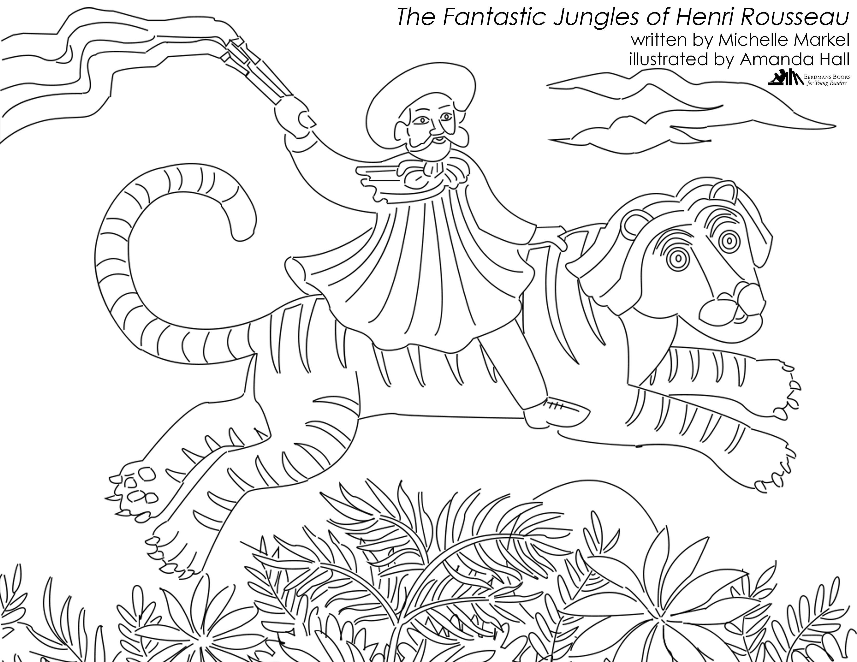 Fantastic Jungles Of Henri Rousseau Coloring Page