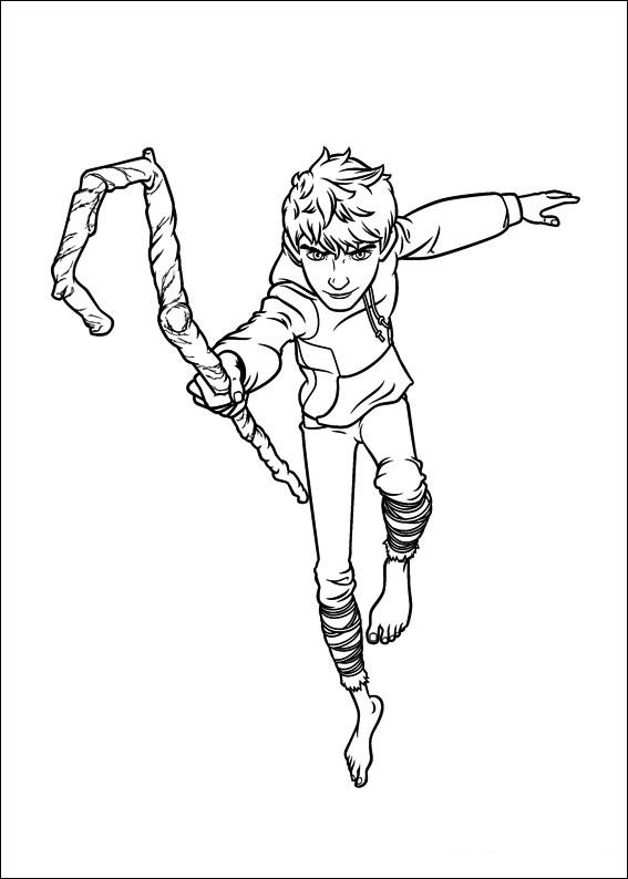 Jack Frost Guardians Coloring Pages Sketch Coloring Page