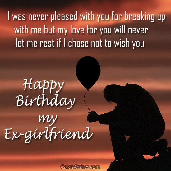 birthday greeting messages for ex girlfriend wishes