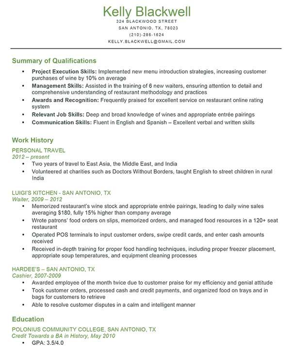 Combination Resume Example  Back To Work  Pinterest
