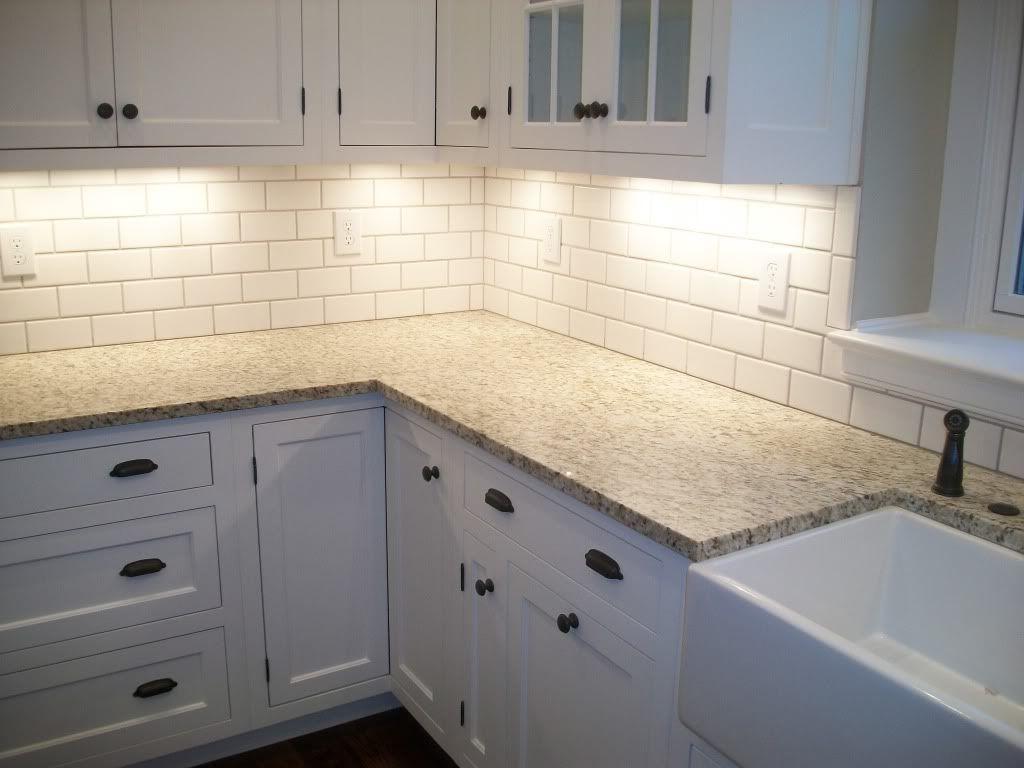 White Tile Kitchen Backsplashes