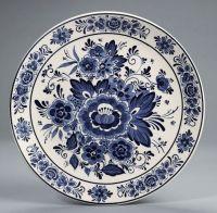 Delft Blue and White Floral Toile Plate Platter   Bleu et ...