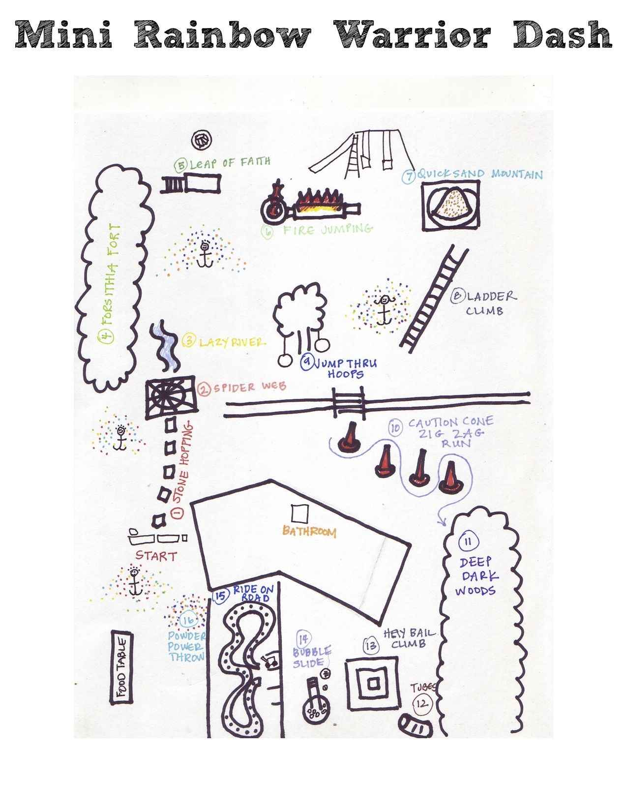 Kid Friendly Obstacle Course Warrior Dash Map