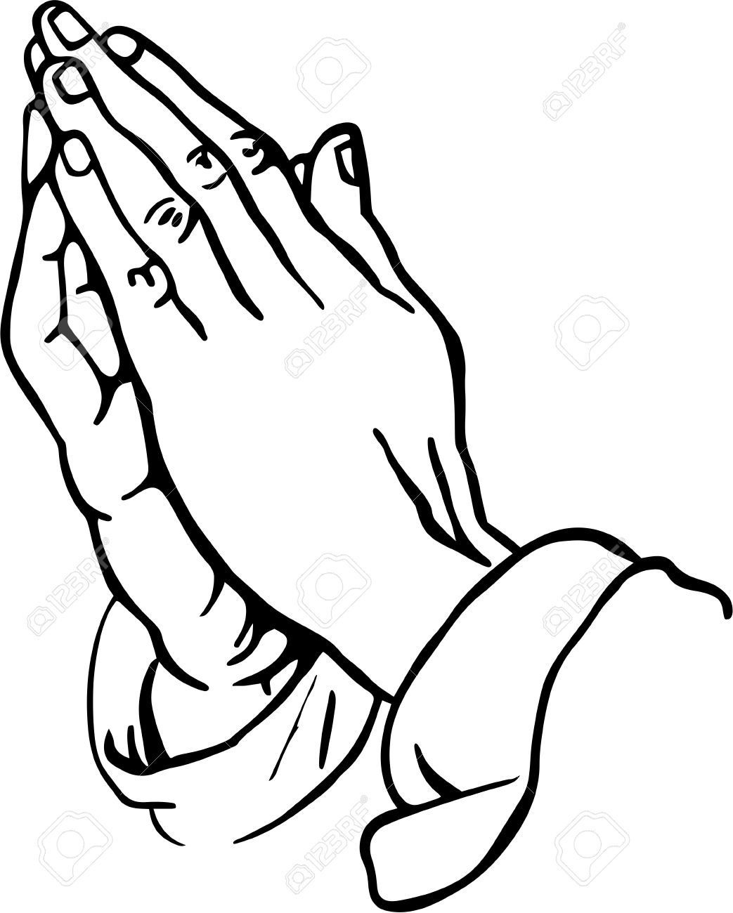 Praying Hands Clipart Stock Photo Picture And Royalty