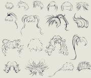 anime hair reference sheet