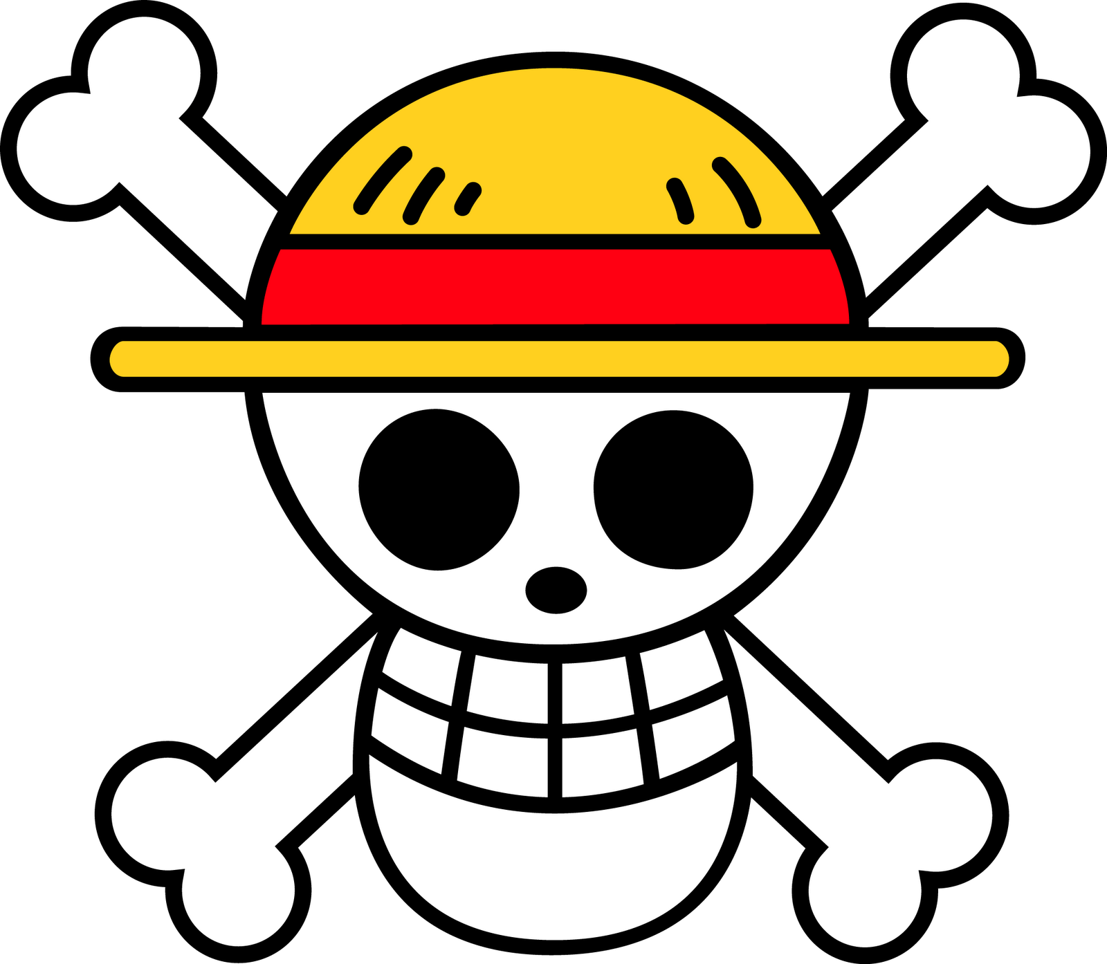 """this logo is from the show """"one piece"""" and i like it because it"""