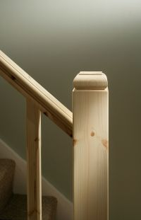 Traditional Stop Chamfered Style Pine Staircase ...
