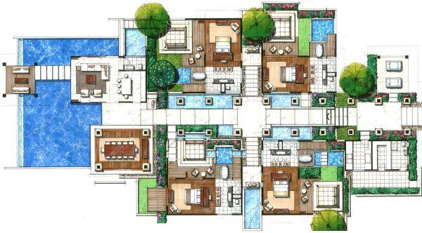 Villas Floor Plans . Resorts Joy