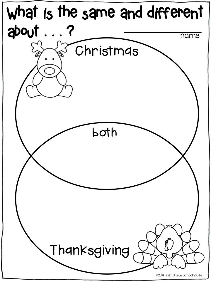 Grade 1 Venn Diagram Rubric