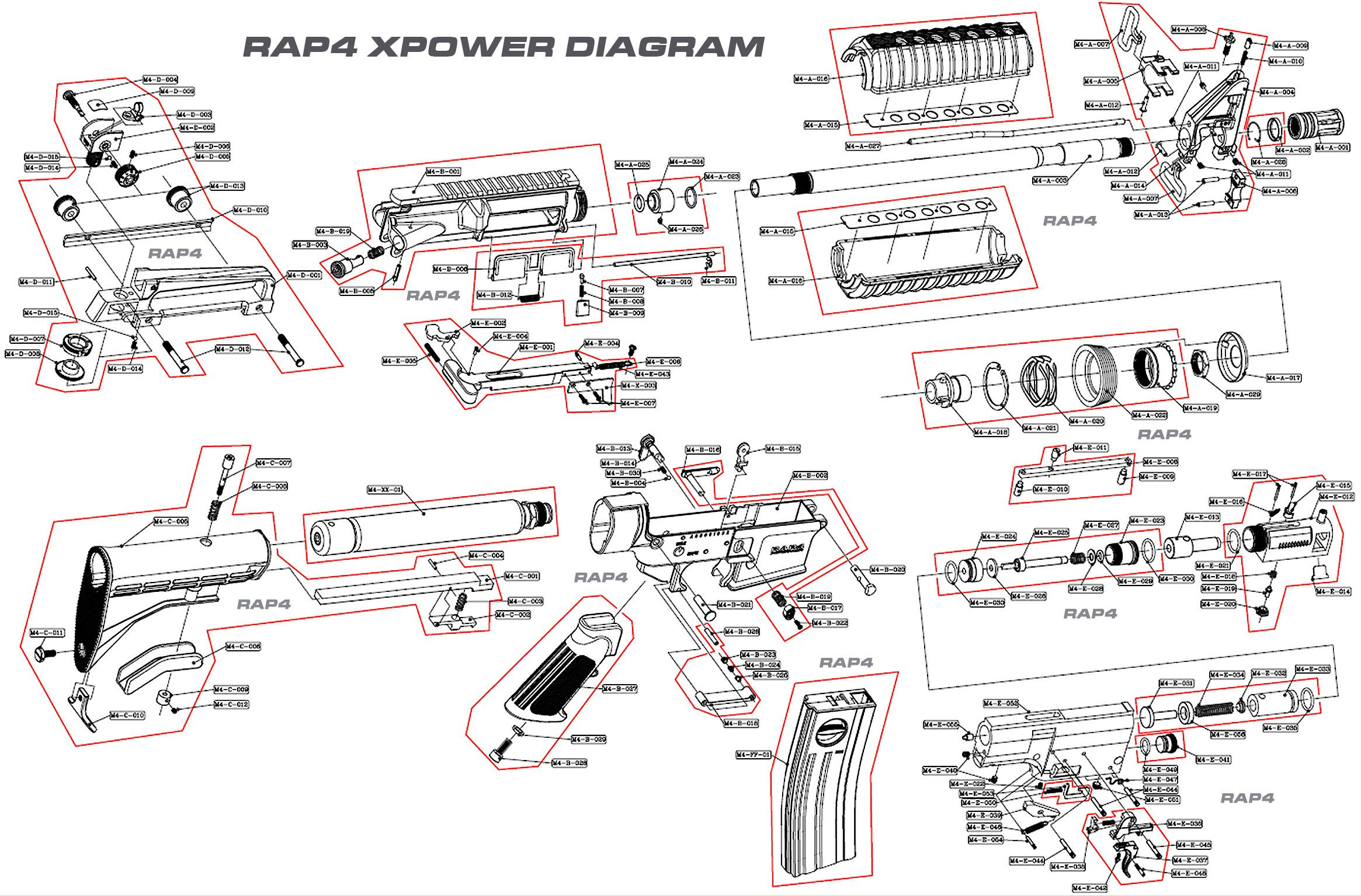 ruger ar 15 exploded diagram meyer plow light wiring m4 carbine schematic military pinterest
