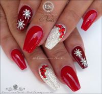 Red & White Christmas Nails... Acrylic & Gel Nails ...
