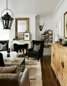 Cozy masculine space jimmy stanton atlanta homes  lifestyles decorators showhouse usual way to store books also bedroom dazzling lighting ideas pretty chandelier blue rh za pinterest