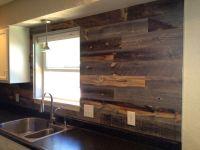 Reclaimed Weathered Wood | Wood backsplash, Woods and Kitchens