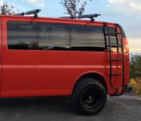 Aluminess ladder on Chevy Savanna van | Chevy Vans with ...
