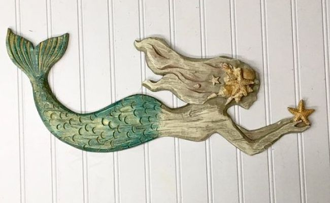 Mermaid Wall Hanging Beach Decor Mermaid Wall Decor Wall