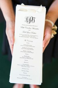 Simple elegant Black and Ivory wedding ceremony program ...