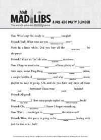 All Worksheets  Mad Libs Worksheets For Adults ...