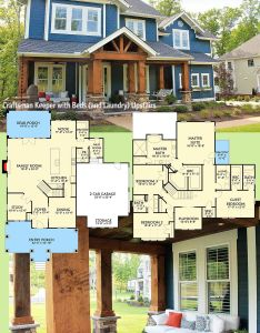 Introducing architectural designs house plan vv this bed craftsman gives you all the beds also keeper with and laundry upstairs rh pinterest