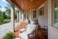 sunroom with beadboard ceiling | The porch has mahogany ...