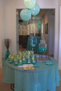 Tiffany blue shower   boy baby shower ideas   Tiffany blue ...