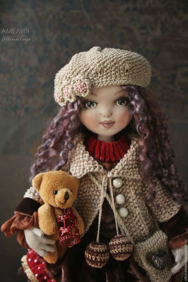 Fabric Art Dolls Pinterest