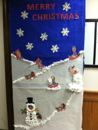 Sledding Elves. Door decorating contest.@Kim Kiger | Door ...