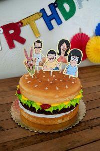 Bobs Burgers birthday cake | Misc cool cakes | Pinterest ...