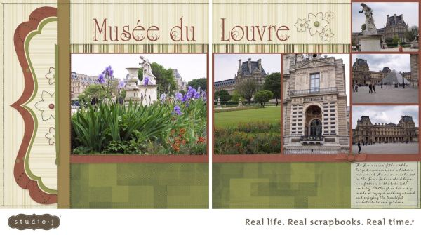 """Ctmh Studio Layout """"musee Du Louvre""""; Kit ' Guy ; Pattern Defining Moments"""