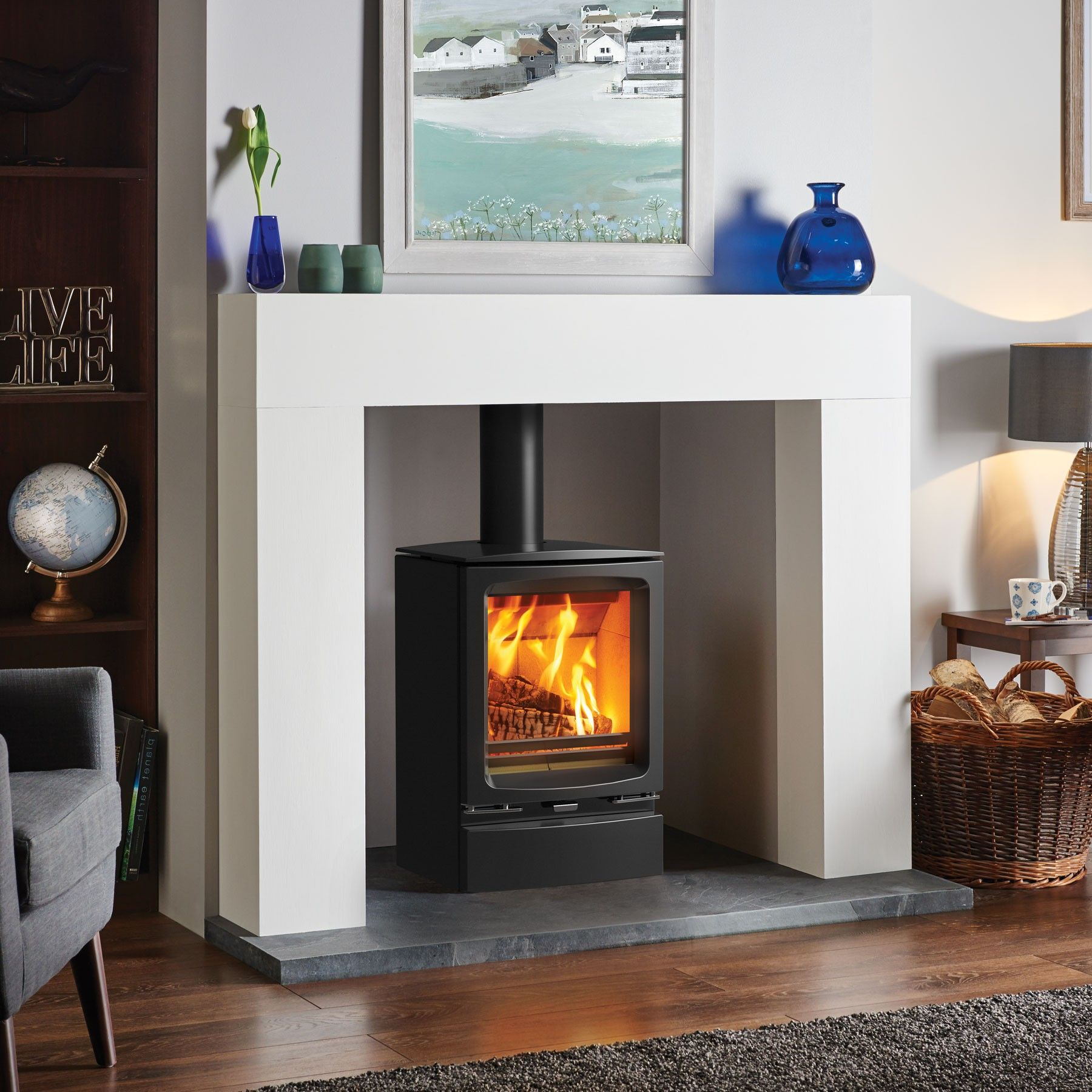 Modern 80+ wood burning stoves wood burners log fires