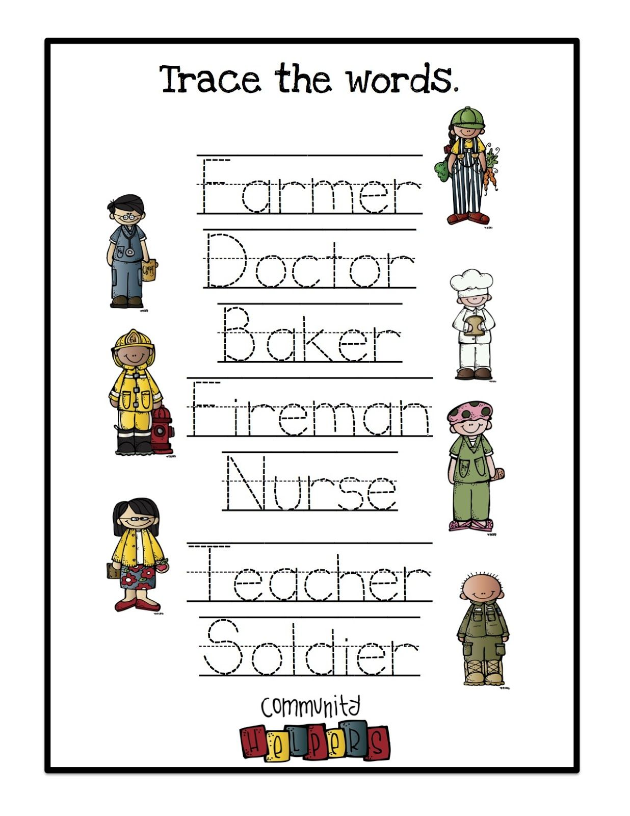 Community Helpers Printable 2 Preschool Printables