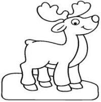 Resultado de imagen para rodolfo el reno para colorear