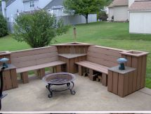 DIY Outdoor Corner Bench Plans