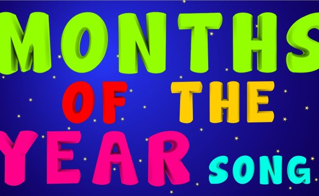 Months Of The Year Song Calendar In Order Pinterest