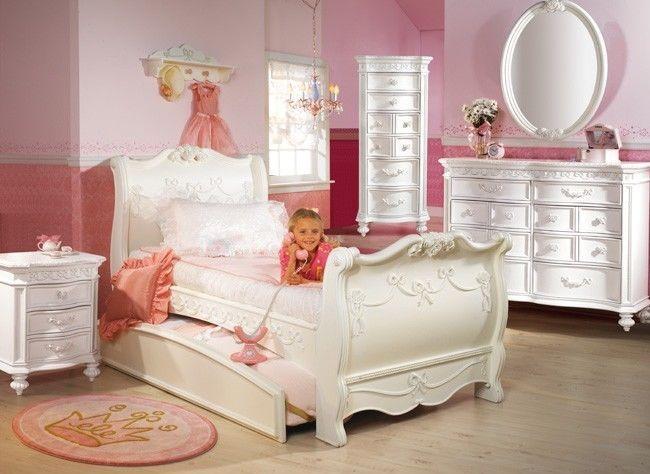Disney Princess 5 Piece Full Sleigh Bed Bedroom Set
