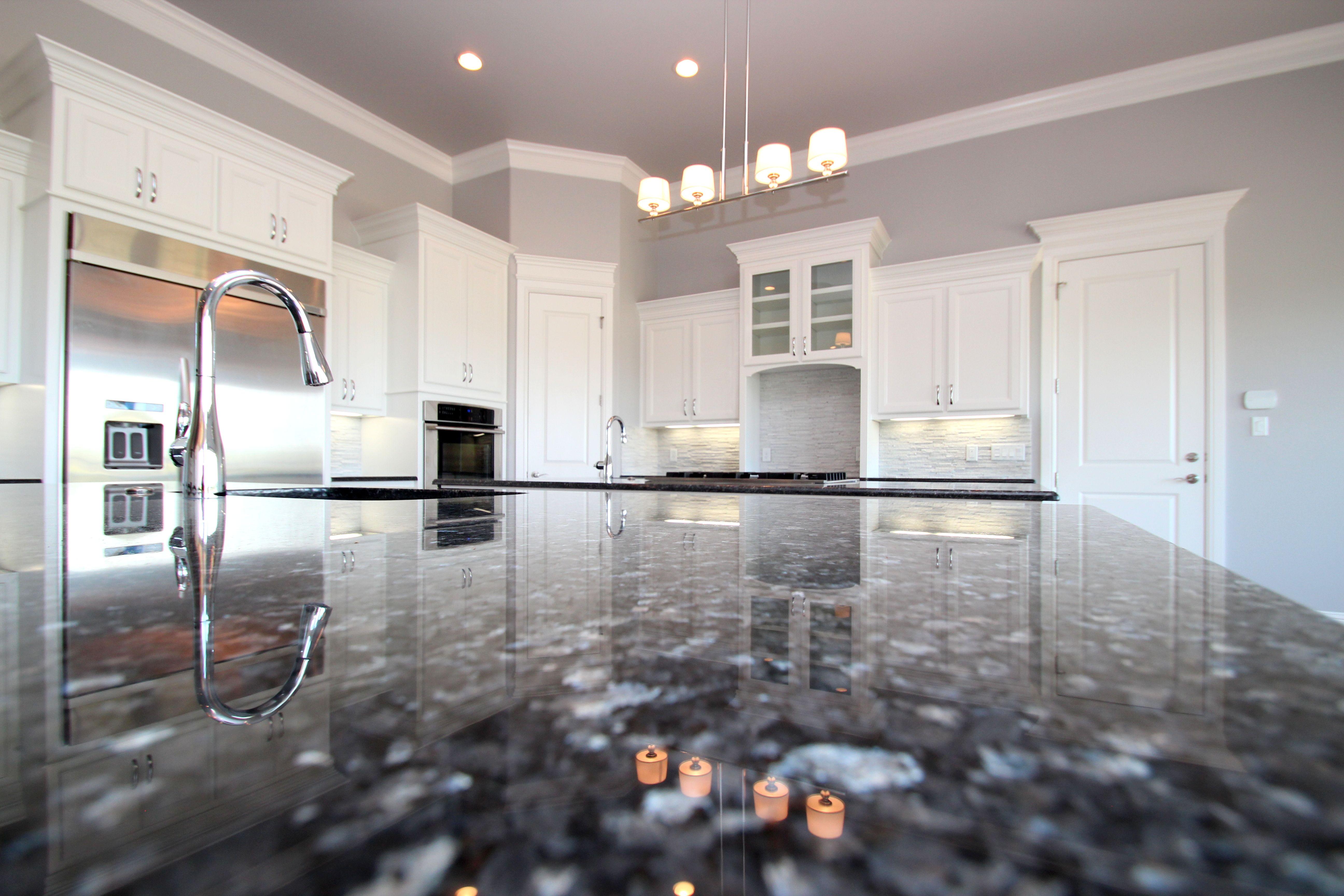 blue pearl granite kitchen chalkboard couto contemporary pure white