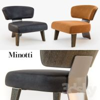 Minotti CREED Armchair WOOD | 3D FAV MODELS | Pinterest ...