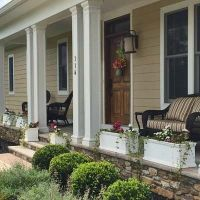Front porch planters for filling in space between porch ...