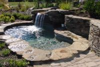 Nice Outdoor Spa & Hot Tub Design With Rock | Outdoor spa ...