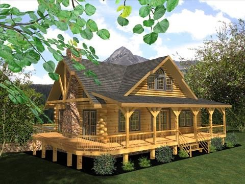 Log Cabin Home With Wrap Around Porch Marley Is Going To Build Me