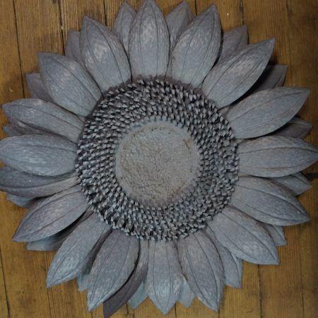 Metal sunflower wall decor indoor outdoor also pinterest rh
