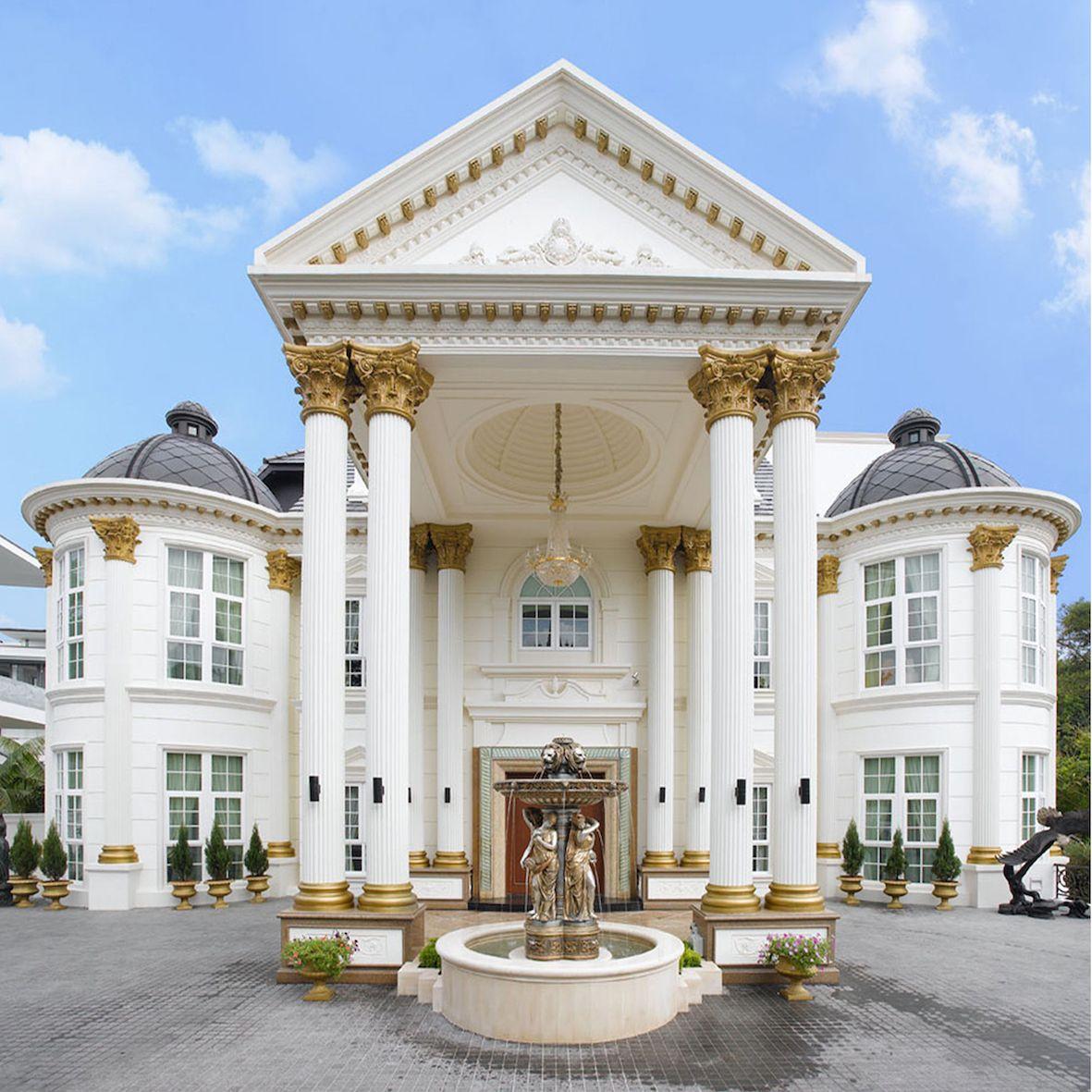 luxury Mediterranean home ArchitectureGrand Entrance